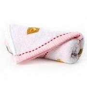 金號 純棉毛巾家紡提緞卡通面巾粉色單條裝 E053