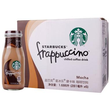 僅華東、華南、華中:星巴克 星冰樂摩卡味咖啡飲料 281ML*6
