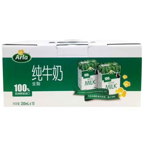 Arla愛氏晨曦全脂純牛奶禮盒裝200ml*10