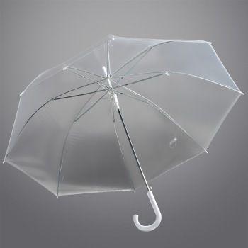 手机端:hmmy 佳佰 雨伞 长柄透明伞加厚钢骨伞*3把