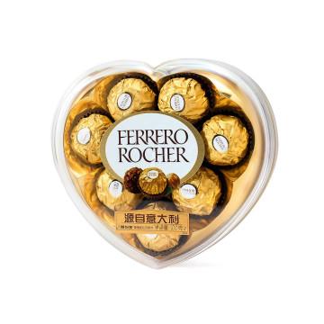 费列罗有代��b��H_ferrero 费列罗 榛果威化巧克力 心型 100g 8粒24.5元