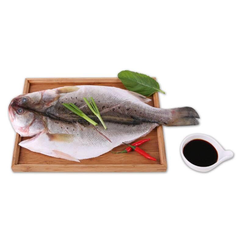 三都港 冰冻清蒸海鲈鱼 500g 自营海鲜