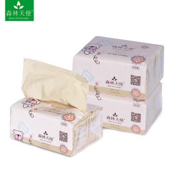 抽愹.,9��yl���_森林天使本色纸抽纸卫生纸婴幼儿纸竹纤维本色纸360张