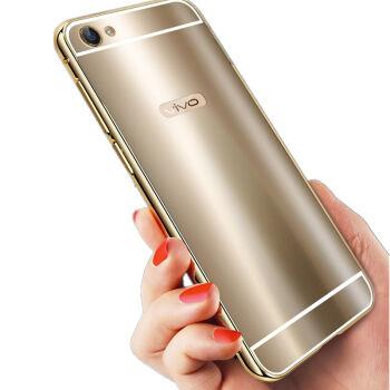 简高 炫彩金属边框镜面后盖手机壳保护套 适用于步步高vivo x7/x7plus