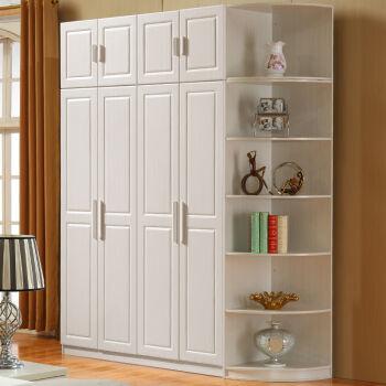 典友 衣柜 拉门衣柜 木质组合衣柜布艺 简易衣柜 现代
