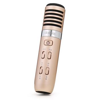手机麦克风有线直播 伴奏输入支持苹果安卓电容麦k歌yy话筒唱吧直播