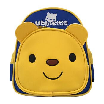 优彼ubbie儿童帆布卡通书包双肩背包带着优彼一起出游