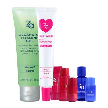 姬芮(Za)卸妆隔离2件套(隔离霜35g+卸妆蜜100ml+随机附送5件赠品).+凑单品